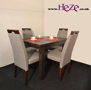 Dining SET  Extending Dining Table amp 4 Chairs Dark Wood Small Perfect - Tipton, United Kingdom - Dining SET  Extending Dining Table amp 4 Chairs Dark Wood Small Perfect - Tipton, United Kingdom