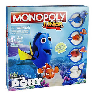 Finding Dory Junior Monopoly Board Game By Hasbro Gaming Ebay