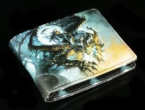 Men-039-s-Wallet-With-Reaper-Wings-of-Death-James-Ryman-Purse-Gothic