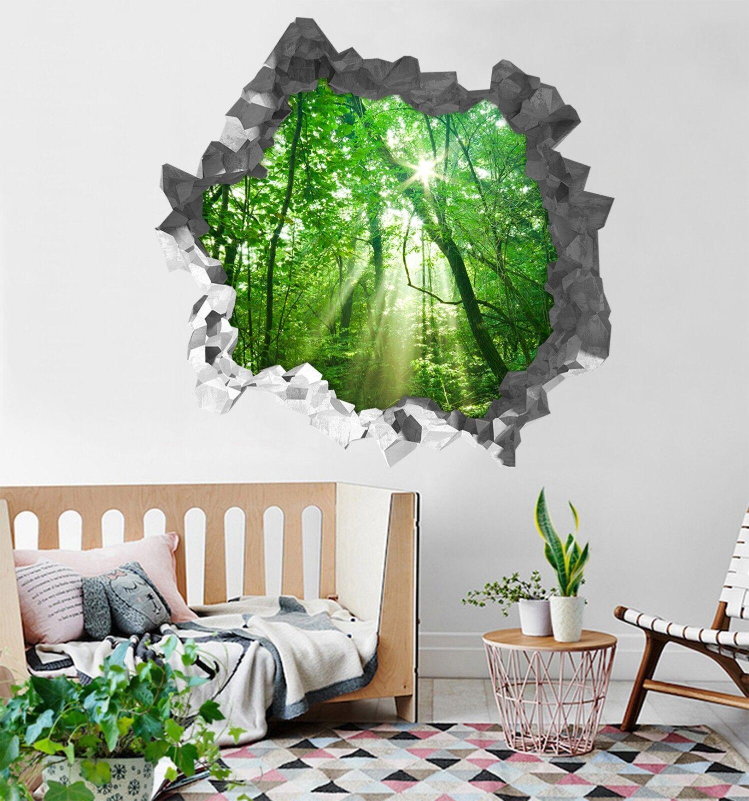 3D Grüner Wald 339 Mauer Murals Mauer Aufklebe Decal Durchbruch AJ WALLPAPER DE