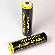 8 x HEALTHSEA 4800 mAh / 8,5 Wh Lithium Ionen Akku 3,7 V Typ 18650 Li  - ion