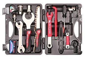 Fahrrad-25-tlg-Werkzeug-Koffer-Satz-Reparatur-Service-Rad-Werkzeugkoffer