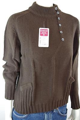 Nos Donna Pullover 80er True Vintage 80s Tg. 38/40 Maglione Marrone Dralon Brown-mostra Il Titolo Originale Elegante Nello Stile