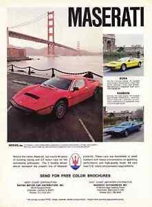 1978 Maserati Khamsin Merak Bora Classic Vintage Advertisement Ad D82 Built