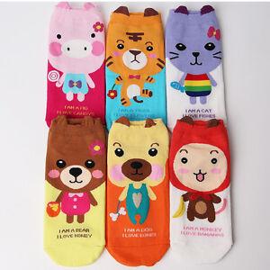 ANIMAL-FRIENDS-CARTOON-SOCKS-6-pairs-1pack-women-girl-cute-MADE-IN-KOREA-socks