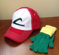 Pokemon Go - Ash Ketchum Pokemon Trainer Set - Hat & Gloves - Adult