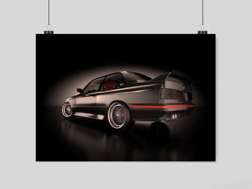 BMW E30 M3 POSTER PRINT IMAGE WALL ART A3 A4 SIZE