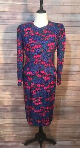 07e31704741e6 Image is loading Vintage-100-Silk-Floral-Two-Piece-Adrianna-Papell-