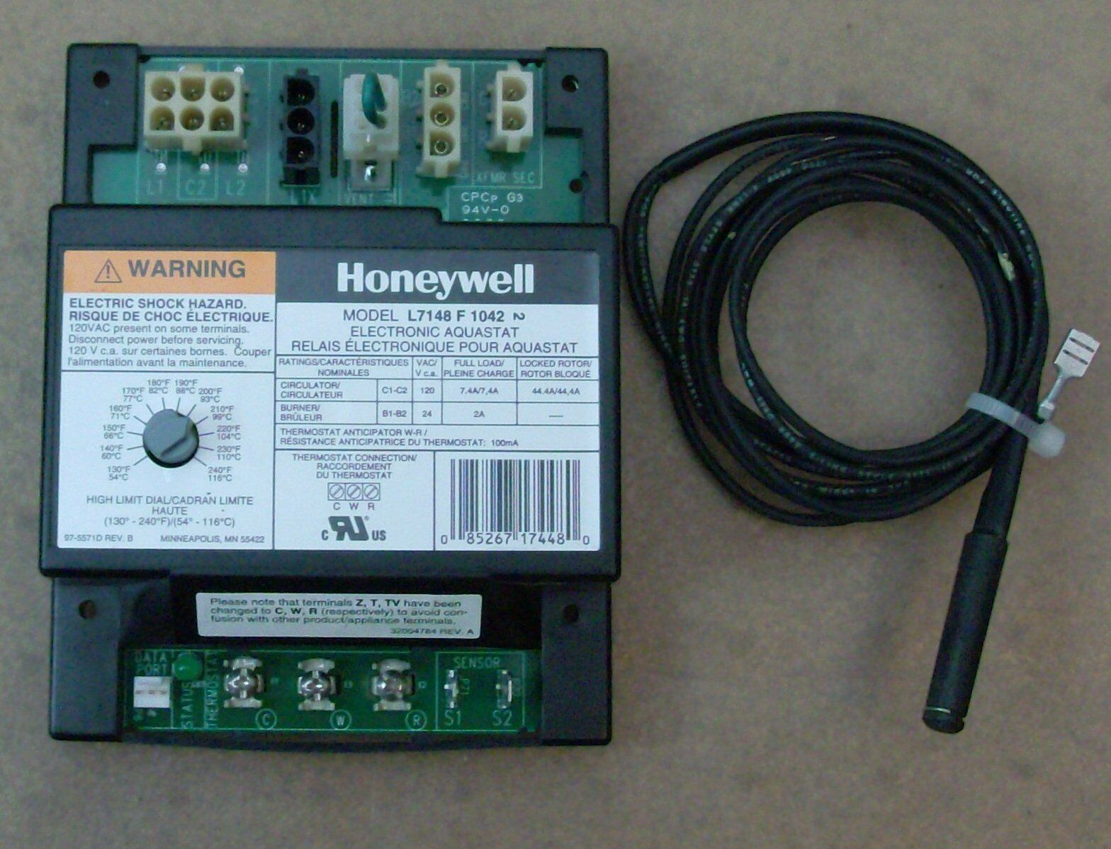 Factory Refurbish Honeywell Aquastat L7148f 1042 1075 Oem Is20205 6117 Air Pressure Switch Hk06wc100 Ebay Norton Secured Powered By Verisign