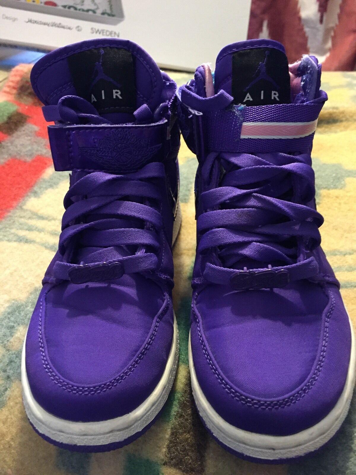 Air Jordan 1 High Women's - strap - Purple - White - Comfortable