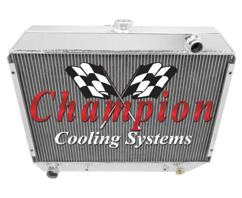 "1970 1971 1972 1973 1974 Dodge Challenger 2 Row 1/"" Champion Advanced Radiator"