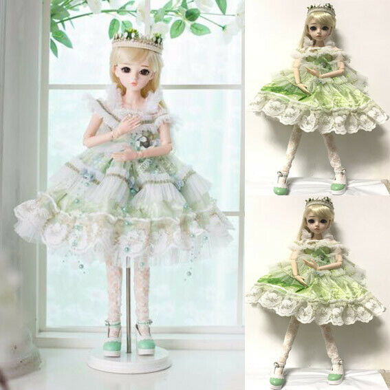 60cm BJD Doll 1/3 Girl Jointed Dolls Face Free Makeup Wig Shoes Clothes Girl Toy