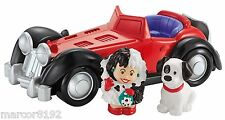 Fisher-price Little People Disney Cruella de Vil 101 Dalmatians Car Music New