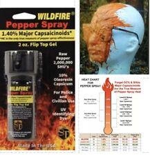 Wildfire! 1.4MC STICKY Pepper GEL Spray FLIP TOP 2 oz Self Home Defense SAFETY