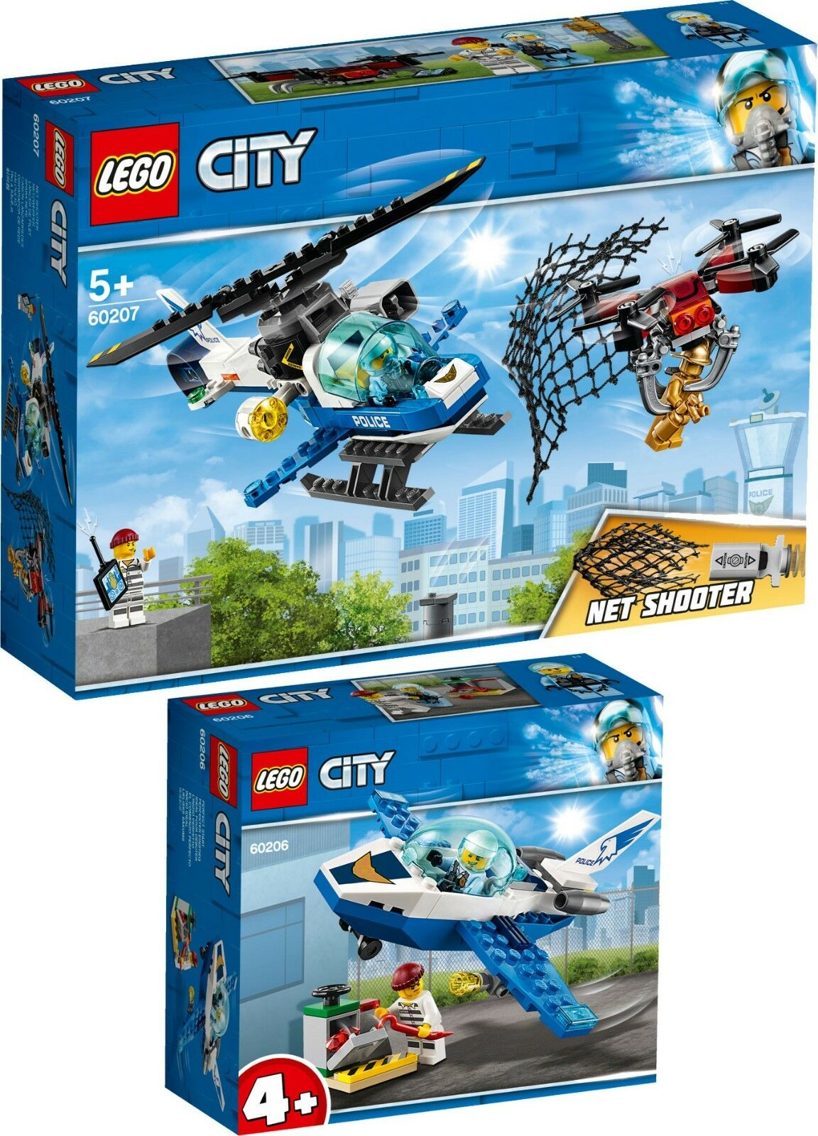 LEGO CITY POLICE drohnenjagd 60207 60207 60207 60206 avion patrouille n1 19 5df1cd