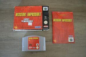 Jeu Mission Impossible en boite console Nintendo 64 N64 version PAL français FR