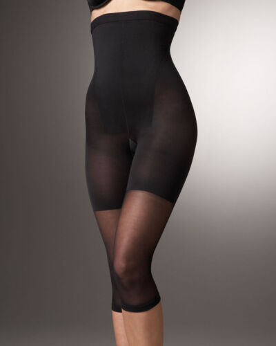 E D B SPANX ~ In-Power Line Super High Footless Shaper ~ Size A F Black C