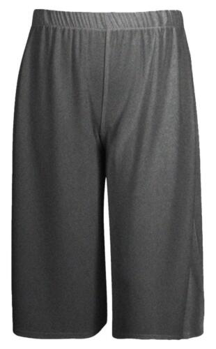 WOMENS LADIES 3//4 LENGTH SHORT PALAZZO TROUSERS CASUAL WIDE LEG CULOTTES PANTS