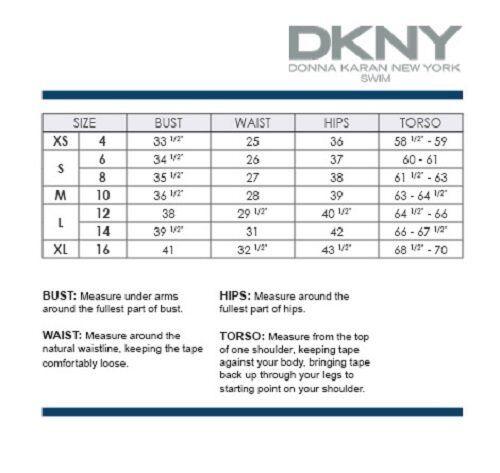 DKNY Swim Bikini Top Sz S Currant Pleated Bandeau Under Boning Swimwear D66829