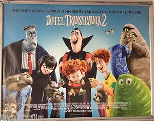 Cinema Poster Hotel Transylvania 2 2015 Blue Quad Adam Sandler Selena Gomez Ebay