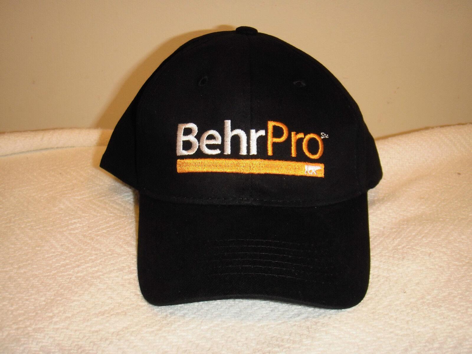 96c83ee7 BEHR Pro Paint Baseball Hat Black Kilz Primer Painter Cap Home DEPOT ...