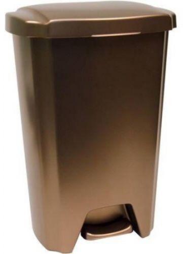 Bronze for Kitchen Garage Workshop Hefty Trash Can with Lid 13-Gallon Step-On
