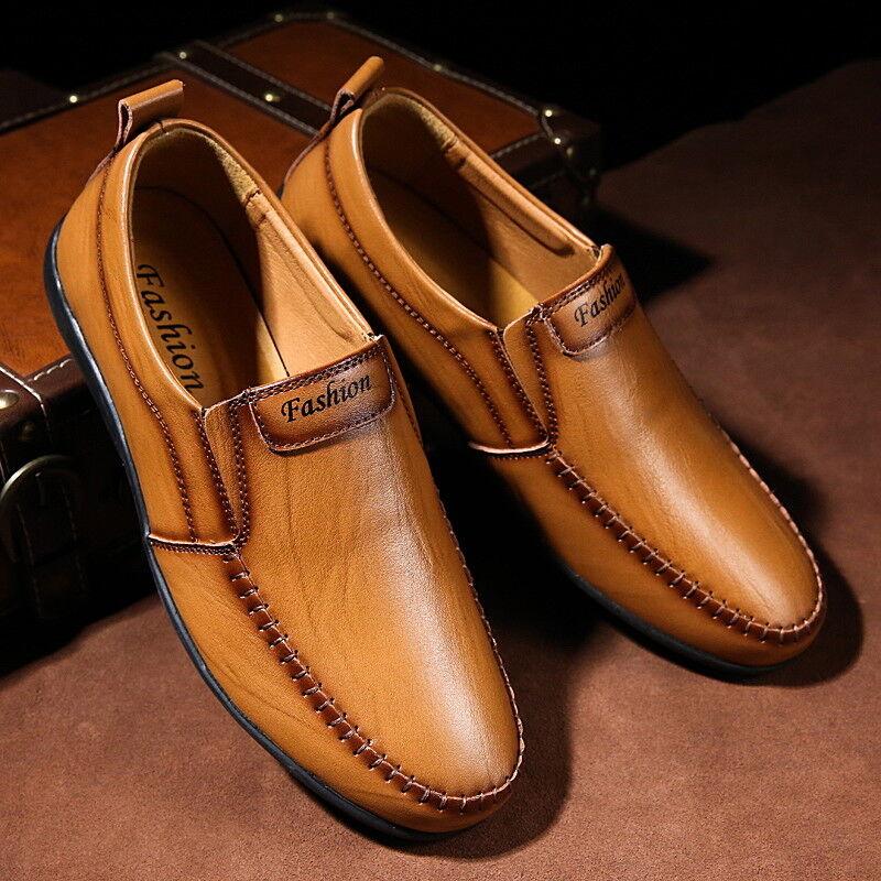 Neue Herren Leder formale formale formale Müßiggänger, die Hochzeits-Mokassins-Schuhe fahren 44  5bc0b7