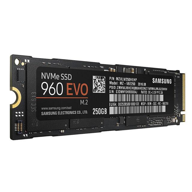 Samsung 250GB M.2 PCIe NVMe  960 EVO Series Internal SSD MZ-V6E250BW