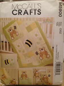 Details about BEE & BEAR Baby Quilt & Accessories - Uncut Sewing PATTERN  McCall's 5900