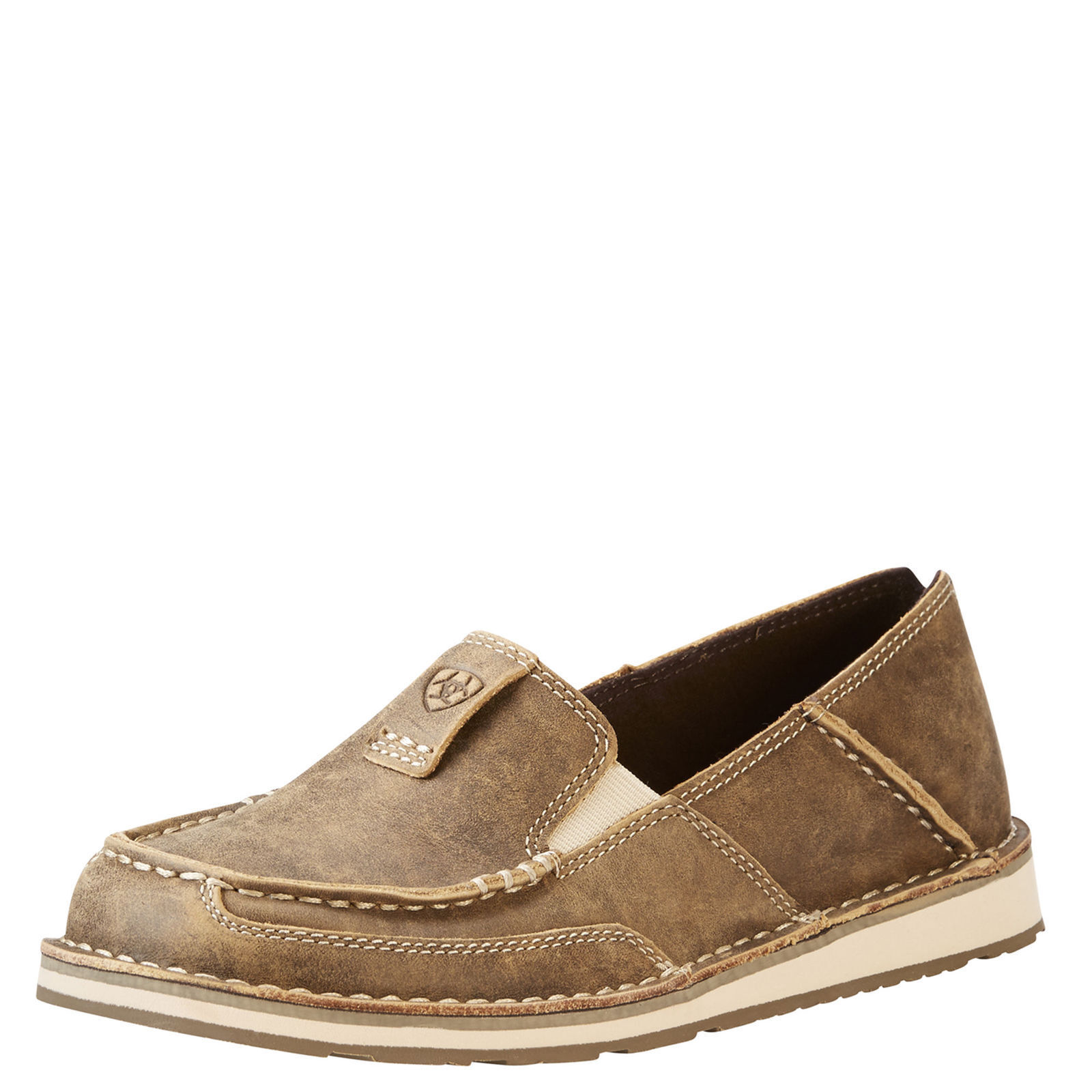 Ariat 10023008 Cruiser Brown Bomber Western Casual Moc Toe Slip On shoes Loafer