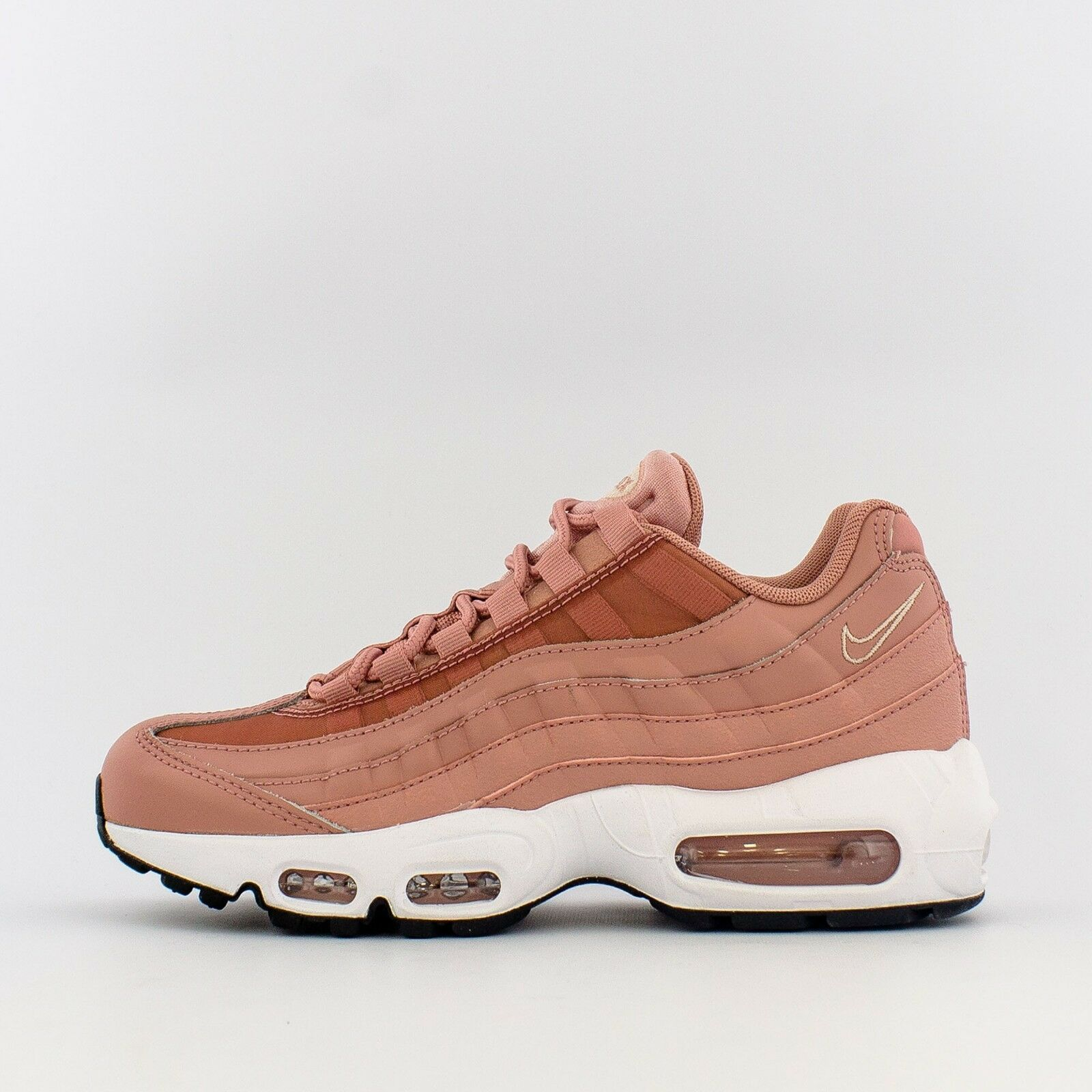 WMNS 2018 Nike Air Max 95 SZ 6.5 Rust Pink Particle Beige Black 307960-606