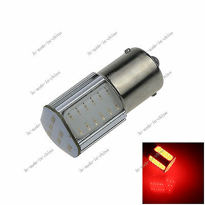 1X Red 1156 G18 Ba15s 4 COB LED Turn Signal Rear Light Car Bulb Lamp 12V D083