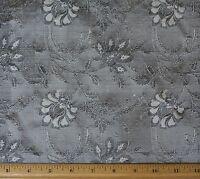Sage/black Dupioni Jacquard 100% Silk Fabric 44/54 Wide, By The Yard (jd-411e)