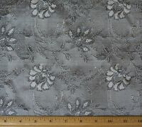 Sage/black Dupioni Jacquard 100% Silk Fabric 44/54 Wide, By The Yard (jd-411e)