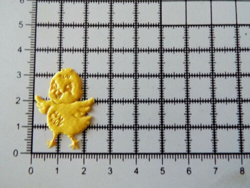 en Hierro//Coser Amarillo Pollitos Satinado para recortar Apliques Tarjeta Artesanía 10 Piezas
