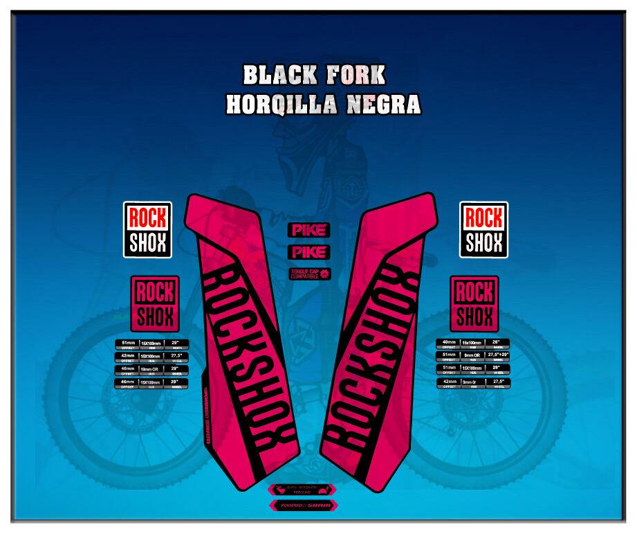 PEGATINAS STICKERS HORQUILLA ROCK SHOX PIKE  AM108 FORK AUFKLEBER DECALS DECALS AUFKLEBER ADESIVI 236bdb