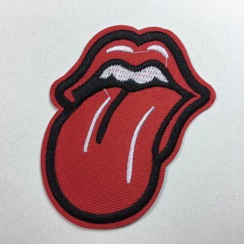 Steine Rot Lippen Zum Aufbügeln // Mund Roll Zunge Bestickt Aufnäher