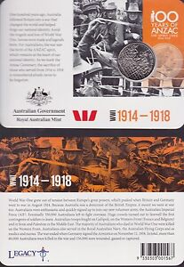 2015-Australia-100-Years-Anzac-Centenary-20-cent-Coin-WWI-1914-1918-soldiers