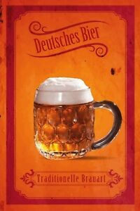 Deutsches Beer Tin Sign Shield Arched Metal 20 X 30 CM SM0005