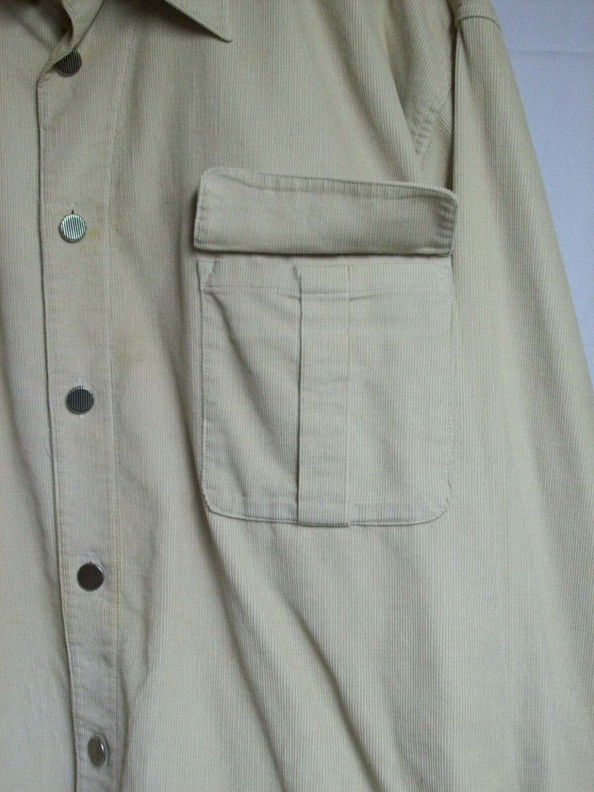 Vintage Mens Western Cotton Corduroy Overshirt XL… - image 5