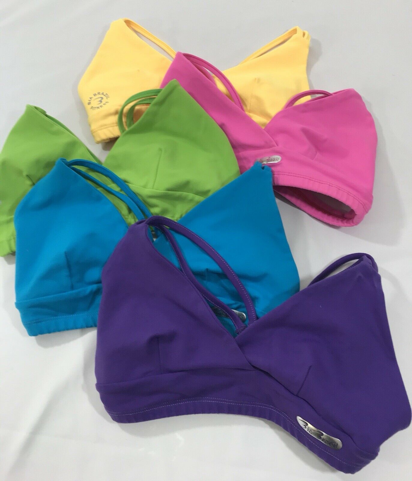 Bia Brazil Lot of Five (5) blueee Pink Purple  Green Womens Sports Bra One Size  quality assurance