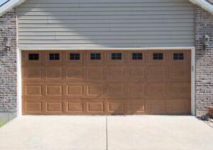 Decorative Magnetic Garage Door Window Panes Black 2 Car