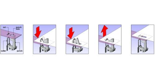 WEDO Hefter Klammerlos Kunststoff in Chromoptik 127 154 Büro Klammerer NEU/&OVP