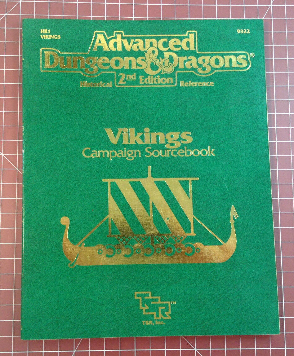 HR1 Vikings Campaign Sourcebook - With Map - TSR Dungeons & Dragons AD&D D&D