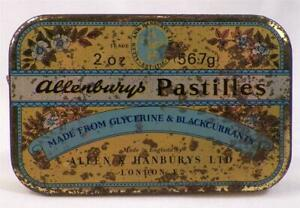 Allenbury's Pastilles Tin Candy Black Currants London England Vintage AS IS