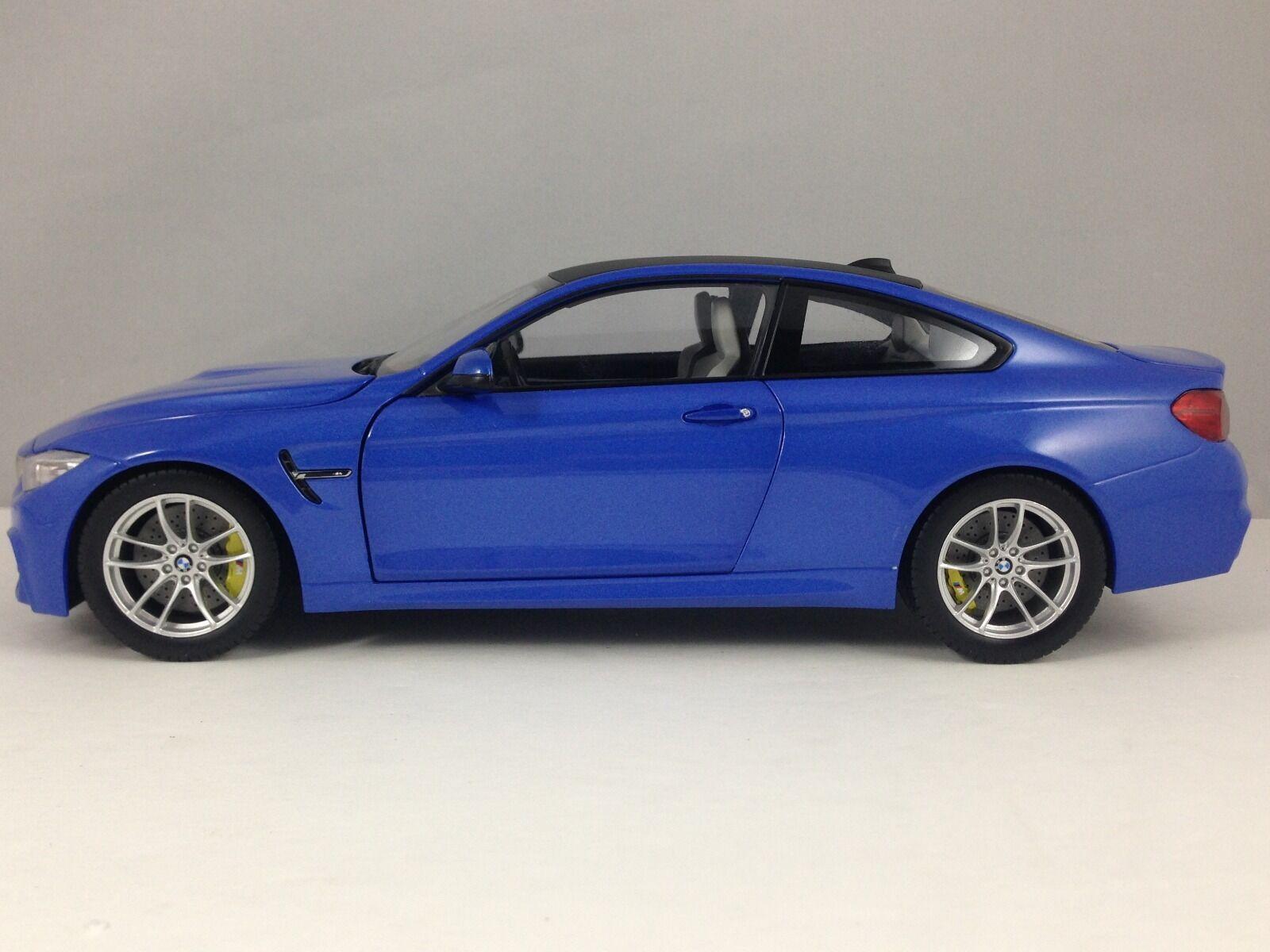 Paragon BMW M4  F82  Marina blu Model Diecast Car 1/18 Nuovo in Box