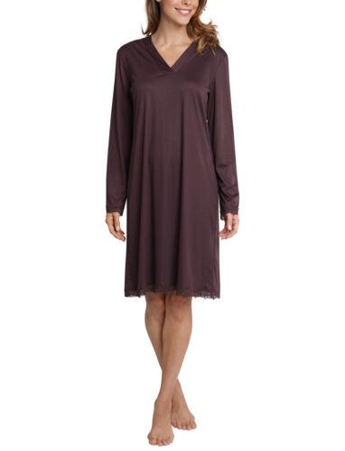 SCHIESSER selected Damen Nachthemd Langarm Sweet Darkness braun NEU *UVP 79,95