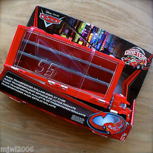 Disney-PIXAR-Cars-MACK-TRANSPORTER-ROLLING-DISPLAY-CASE-Storage-MICRO-DRIFTERS