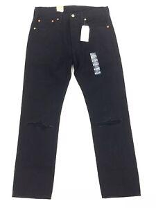 4d724c63 NEW Levi's 501 Original Fit Straight Button Fly Denim Jeans Black ...