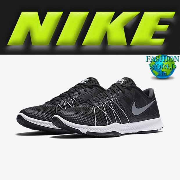 low cost 95a12 f68d7 Nike Zoom Train Incredibly Fast Black Silver Men Cross Training Shoes  844803-001 8   eBay
